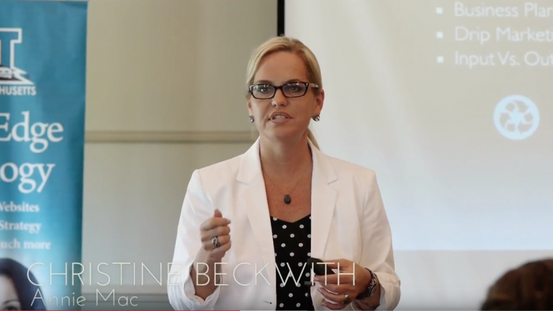 Screen Shot Christine Beckwith EXIT Realty Upstate NY 2015 Regional Conference
